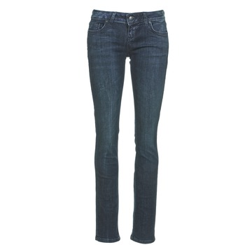 material Women straight jeans LTB ASPEN Blue / Dark
