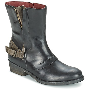 Shoes Women Mid boots Kickers AMERIKO Black / Grey