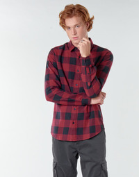 material Men long-sleeved shirts Only & Sons  ONSGUDMUND Bordeaux / Black