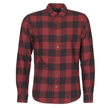 material Men long-sleeved shirts Only & Sons  ONSGUDMUND Bordeaux / Black