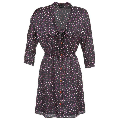 material Women Short Dresses Kookaï IXIMALE Black / Violet