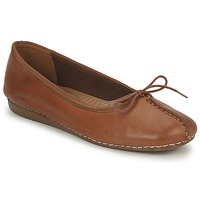 Shoes Women Ballerinas Clarks FRECKLE ICE Brown