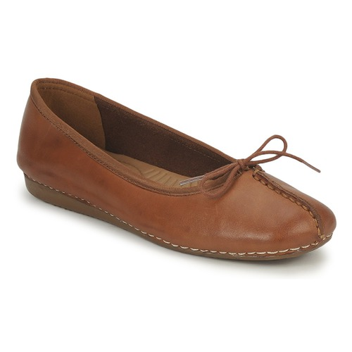 Shoes Women Ballerinas Clarks FRECKLE ICE Brown