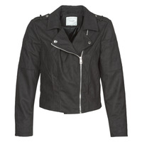 material Women Leather jackets / Imitation leather JDY JDYNEW PEACH Black