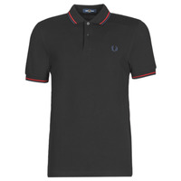 material Men short-sleeved polo shirts Fred Perry TWIN TIPPED FRED PERRY SHIRT Black
