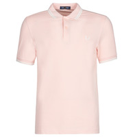 material Men short-sleeved polo shirts Fred Perry TWIN TIPPED FRED PERRY SHIRT Pink