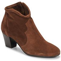 Shoes Women Ankle boots Betty London NORIANE Camel / Velvet