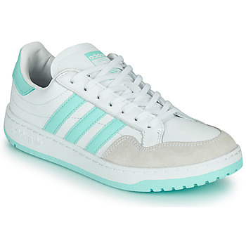 Shoes Low top trainers adidas Originals TEAM COURT W White / Turquoise