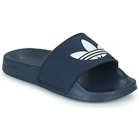 Shoes Children Sliders adidas Originals ADILETTE LITE J Marine / White