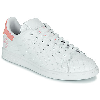 Shoes Low top trainers adidas Originals STAN SMITH W White / Pink