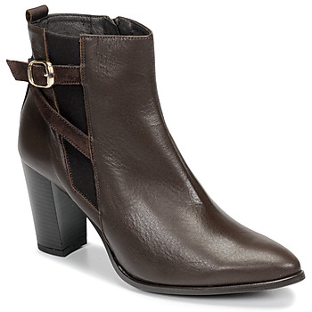 Shoes Women Ankle boots So Size AURELIO Brown