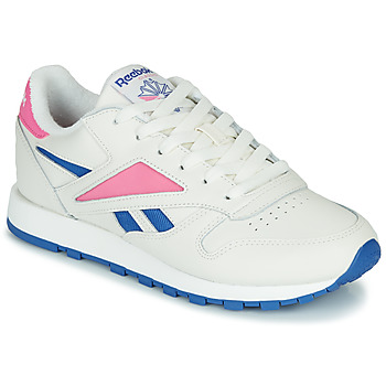 Shoes Low top trainers Reebok Classic CL LEATHER MARK White / Pink