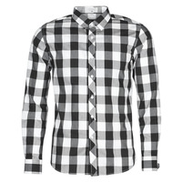 material Men long-sleeved shirts Casual Attitude  White / Black