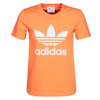 material Women sweaters adidas Originals TREFOIL TEE Orange