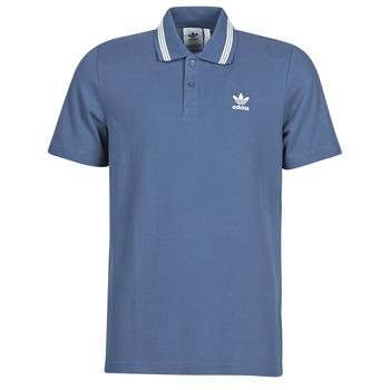 material Men short-sleeved polo shirts adidas Originals PIQUE POLO Blue