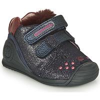 Shoes Girl Low top trainers Biomecanics BOTIN ELASTICO Marine