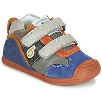 Shoes Boy Low top trainers Biomecanics ZAPATO SPORT VELCRO Grey / Blue / Orange