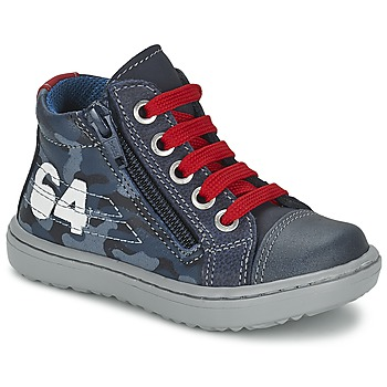 Shoes Boy High top trainers Citrouille et Compagnie MINAI Blue