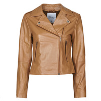 material Women Leather jackets / Imitation leather Betty London NROCK Cognac
