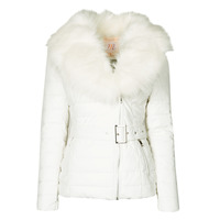 material Women Duffel coats Moony Mood NOUMILLON White