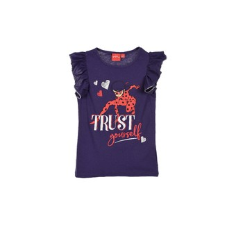 material Girl short-sleeved t-shirts TEAM HEROES  MIRACULOUS LADYBUG Blue