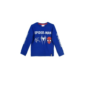 material Boy sweaters TEAM HEROES  SPIDERMAN  TSHIRT ML Blue