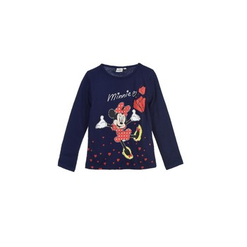 material Girl Long sleeved shirts TEAM HEROES  MINNIE Marine