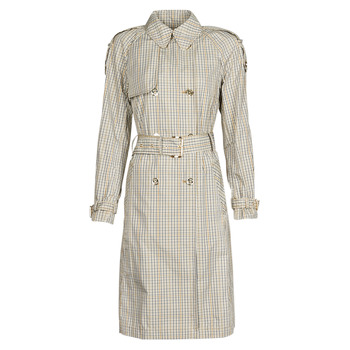 material Women Trench coats MICHAEL Michael Kors PLAID PACKABLE TRENCH Beige