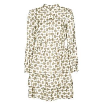 material Women Short Dresses MICHAEL Michael Kors LUX MEDLN PINDOT DRS Beige