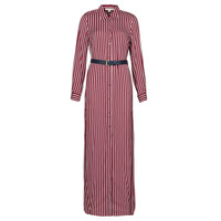 material Women Long Dresses MICHAEL Michael Kors WARM PLAYFL SHIRT DR Bordeaux / White / Marine