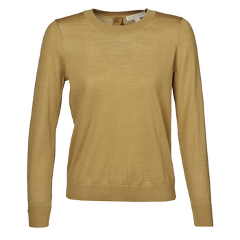 material Women jumpers MICHAEL Michael Kors SOLID BUTTON BK SWTR Camel