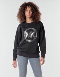 material Women sweaters MICHAEL Michael Kors MK CRCL CLSC SWTSHRT Black