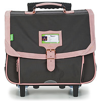 Bags Girl Satchels Tann's TROLLEY 38 CM TANN'S BLUSH BRONZE Grey / Pink