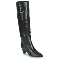 Shoes Women Boots Vanessa Wu BOTTES SERPENT À TALON CUBAIN Black