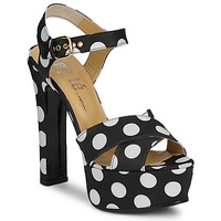 Shoes Women Sandals Keyté FUNNY-POIS-8-NERO-BIANCO Black