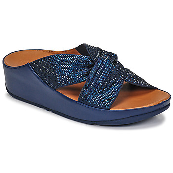 Shoes Women Sandals FitFlop TWISS CRYSTAL SLIDE Blue