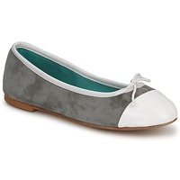 Shoes Women Ballerinas Les Lolitas FELL WHITE-GREY