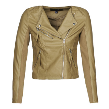 material Women Leather jackets / Imitation leather Vero Moda VMRIAFAVO Beige
