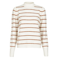 material Women jumpers Vero Moda VMCORNELIAPUFF White / Brown
