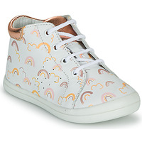Shoes Girl High top trainers GBB NAHIA White / Pink