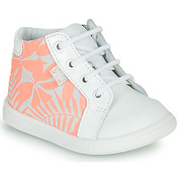Shoes Girl High top trainers GBB FAMIA White / Pink