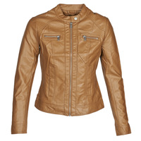 material Women Leather jackets / Imitation leather Only ONLBANDIT Cognac