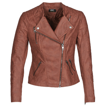material Women Leather jackets / Imitation leather Only ONLAVA Bordeaux