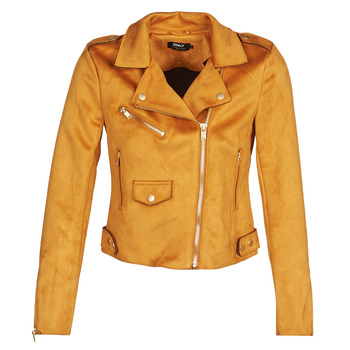 material Women Leather jackets / Imitation leather Only ONLSHERRY BONDED Cognac
