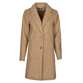 material Women coats Only ONLCARRIE BONDED Camel
