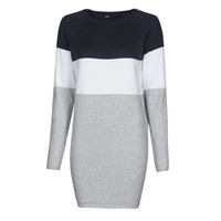 material Women Short Dresses Only ONLLILLO Marine / White / Grey