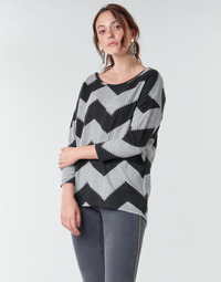 material Women Blouses Only ONLELCOS Grey / Black