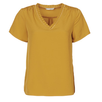 material Women short-sleeved t-shirts Only ONLVICKY Yellow