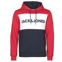 material Men sweaters Jack & Jones JJELOGO BLOCKING Red