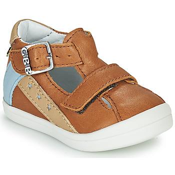 Shoes Boy Sandals GBB BERNOU Cognac